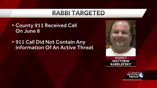 How was warning call to Allegheny County 911 for Pittsburgh police concerning plans to harm New York rabbi handled? Internal reviews under way