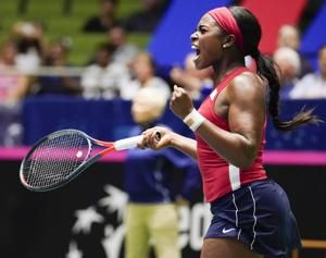 Stephens pulls US even with Swiss in FedCup after Keys upset