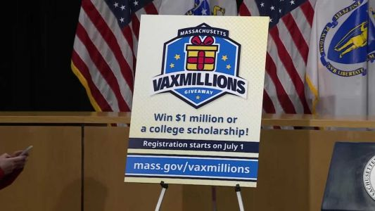 Massachusetts new COVID-19 vaccination lottery offers $1M prizes, college scholarships