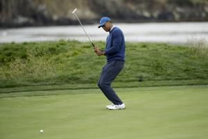 The Latest: Patrick Cantlay with 68 for low round at Pebble