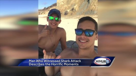 Man who witnessed shark attack describes horrific moments
