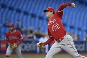 Skaggs pitches season-high 7 1/3, Angels beat Jays 3-1