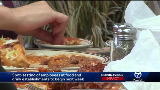 Spot-testing of food and drink establishment employees to begin next week