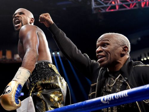 Floyd Mayweather's dad expects the Manny Pacquiao rematch to happen, and for his 'son to kick his ass'