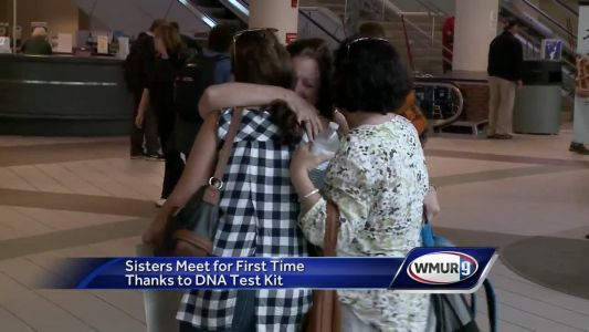 Sisters meet for first time thanks to DNA kit