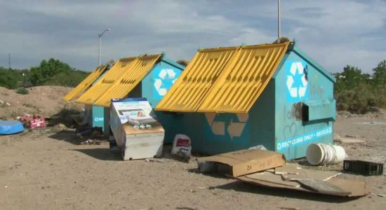 Recycling site plagued with trash causing an eyesore for neighbors