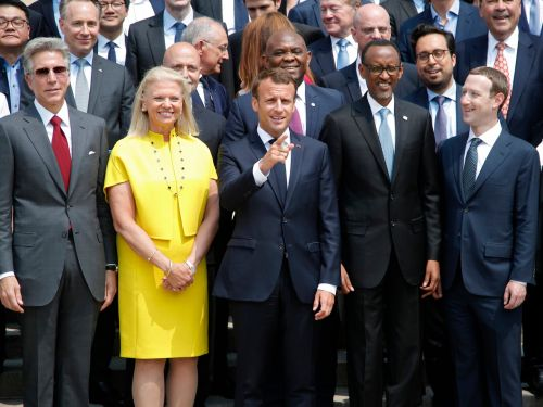 Zuck and other Silicon Valley power players gathered in Paris to meet with French President Emmanuel Macron - here's who was there