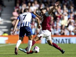 Hendrick rescues 1-1 draw for Burnley at Brighton in EPL