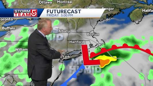 Video: Clouds increase Friday, chance of showers