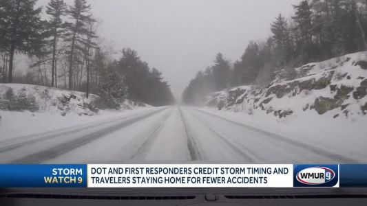 Storm's timing a boon as many stay off roads