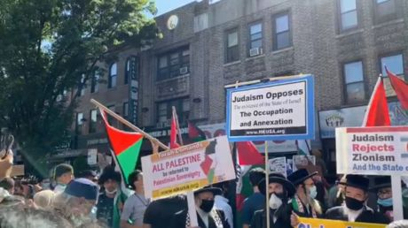 'If they annex the Jordan Walley, it's World War 3': Hundreds march in New York to protest Israel's West Bank annexation scheme