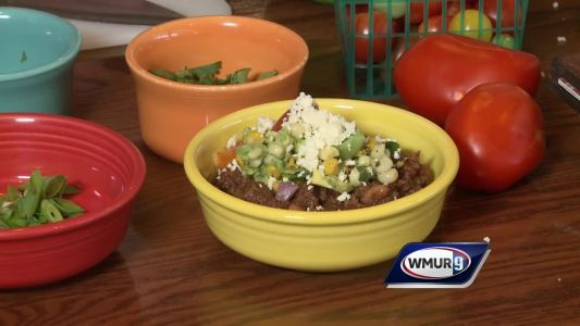 Cook's Corner: Chili topped with avocado salsa, cotija cheese