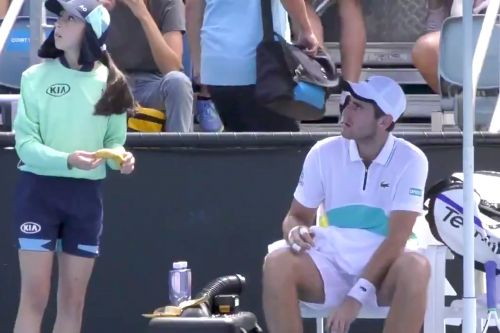 Elliot Benchetrit scolded for asking ball girl to peel banana at Australian Open