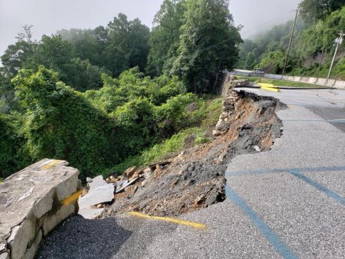 Retaining wall collapse closes Chimney Rock State Park