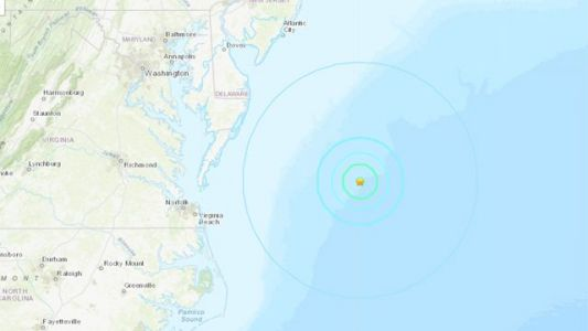 4.7-magnitude earthquake reported off coast of Ocean City, Maryland