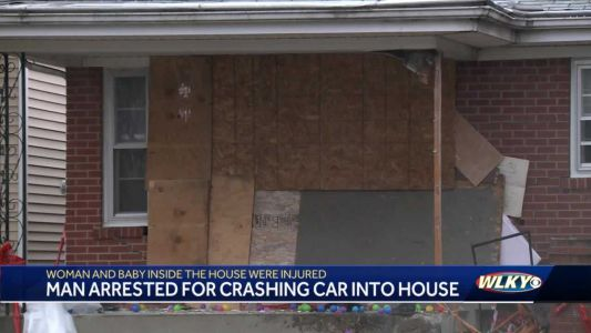 Baby, mother injured after car crashes into Louisville home; driver arrested