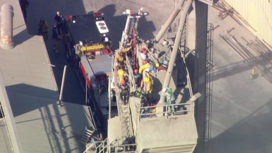 NorCal crews try to free man stuck in cement mixer