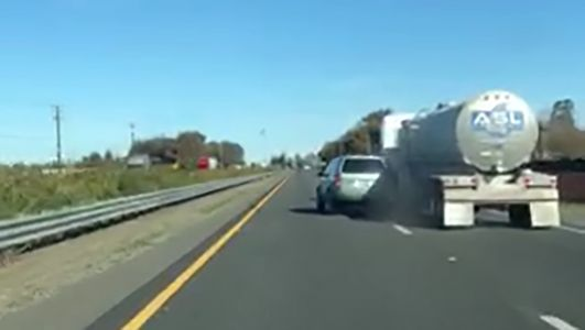 Erratic driver caught on video; witness says CHP didn't respond to 911 calls