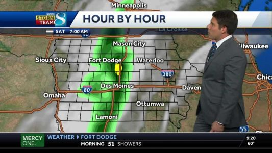 Showers to sweep the state Saturday morning