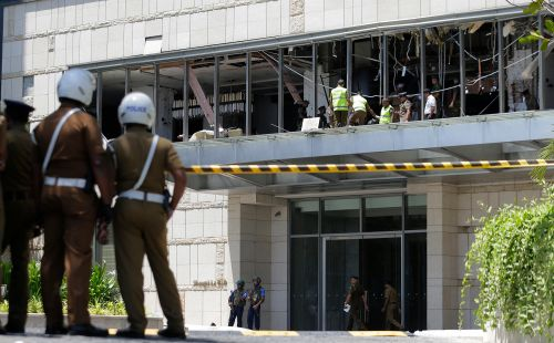 Sri Lanka bombers seen smiling, plotting attack on hotel elevator: report