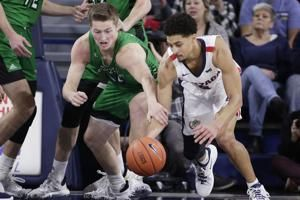 Petrusev leads No. 8 Gonzaga over North Dakota 97-66