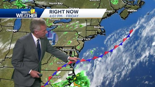 Isolated thunderstorms, humid Saturday