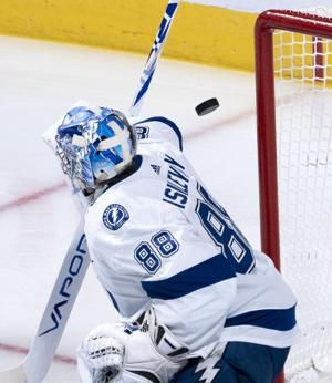 Vasilevskiy leads Lightning to a 3-1 win over Canadiens