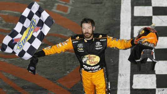 Martin Truex Jr. holds off Joey Logano in late shootout to win Coca-Cola 600