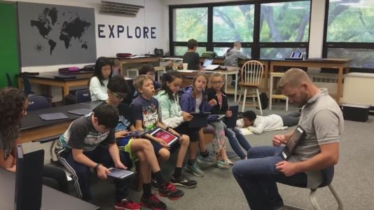 Middle school teacher honored for his dedication to students beyond the classroom