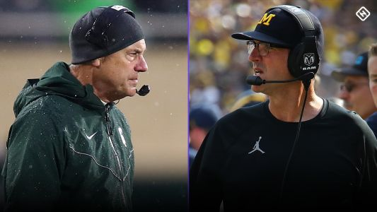 Jim Harbaugh calls Michigan State, Mark Dantonio 'bush league' after pregame scuffle