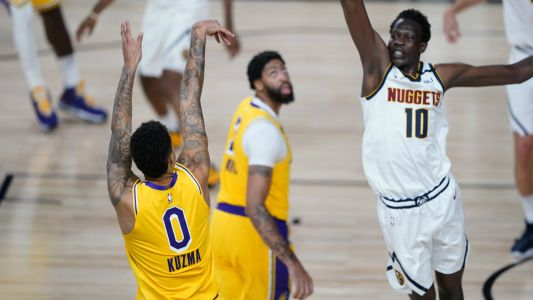 Lakers' Kyle Kuzma after draining shot over Bol Bol: 'Jesus could be in front of me and I'd still shoot'