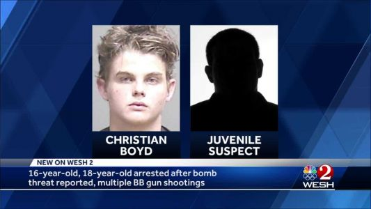 16-year-old, 18-year-old arrested after bomb threat reported, multiple BB gun shootings