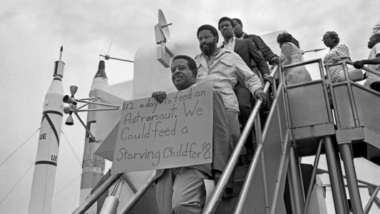 Hundreds Demonstrated Against Poverty at Apollo 11 Moon Launch