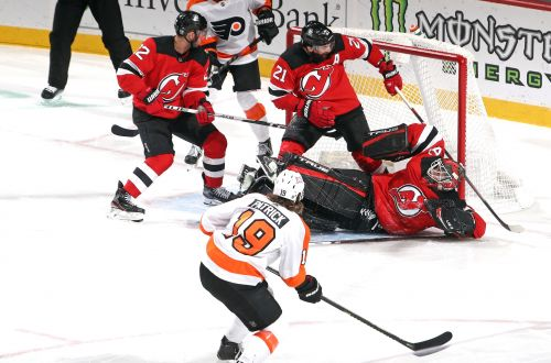 Devils give up three goals in third in loss to Flyers