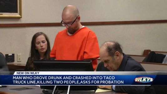 Louisville man who crashed into group at food truck asking to be released from prison