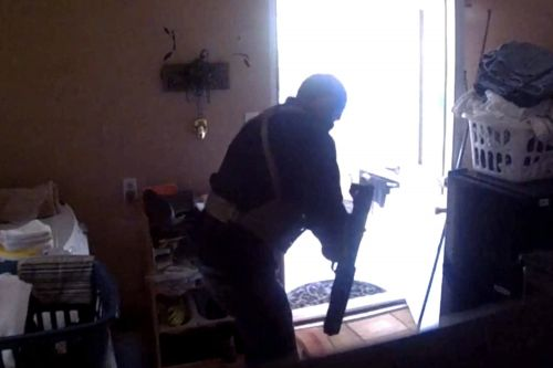 Harrowing footage shows man shoot stepfather in 'stand your ground' case