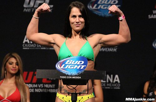 Watch Jessica Eye miss weight by 5 pounds for UFC 245