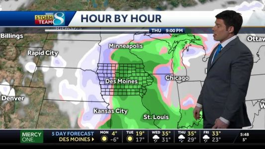 Cold temps continue, storm system to form Thursday