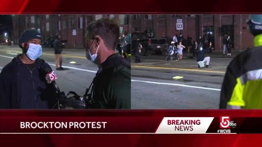 'We've got to stand up for what we believe in,' Brockton protester says