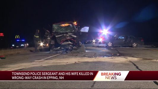 Police officer, wife killed in wrong-way crash