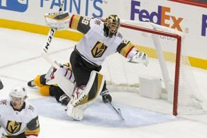 Fleury shuts out former team; Knights defeat Penguins