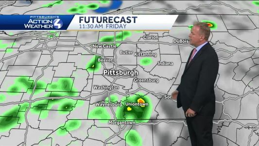 Pittsburgh's Action Weather forecast: Showers return tonight into Friday AM
