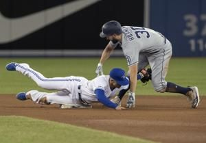 Biggio hits first career HR, Jays beat Padres 10-1