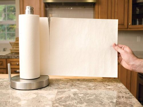 I bought these reusable paper towels after seeing them on 'Shark Tank' and they've helped me cut down on a ton of waste