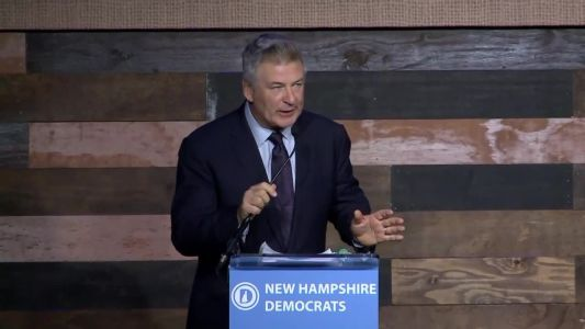 Alec Baldwin calls for 'overthrow' of government through voting