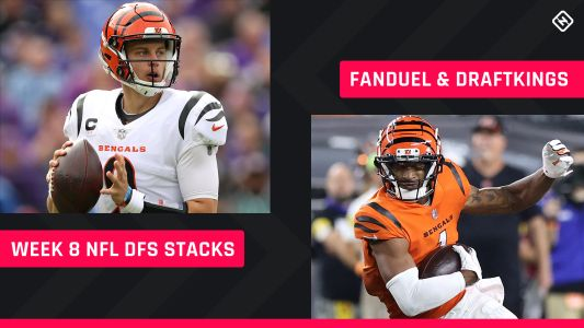 Best NFL DFS Stacks Week 8: Lineup picks for DraftKings, FanDuel tournaments, daily fantasy football cash games