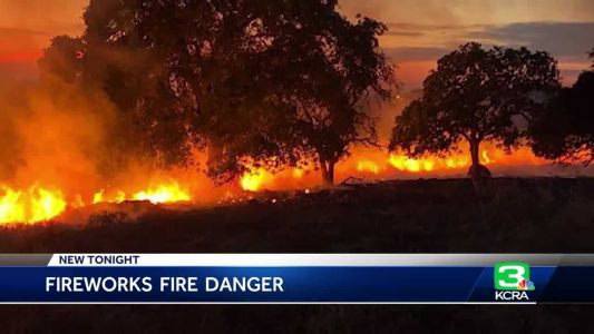 Family starts Rocklin fire while taking photos with sparklers