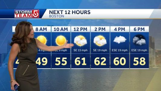 Video: Sunny, chilly start before rain moves in