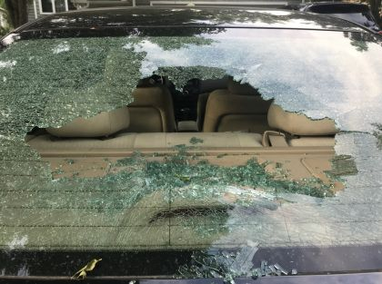 Police: Car Windows Shattered, Spray Painted In Plymouth
