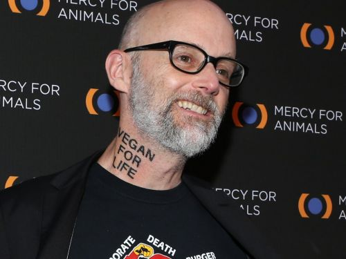 Moby just got a huge 'Vegan for Life' tattoo on his neck, and people are freaking out
